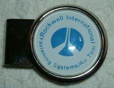 ROCKWELL INTERNATIONAL MONEY CLIP VINTAGE NEVER USED  HIT USA