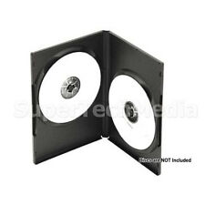 100 Standard 14mm Double 2 CD DVD Disc Black Case Movie Video Box