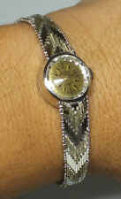 Vintage NOS 1960's Vulcain 17 Jewels Mechanical Sterling Silver Ladies Watch