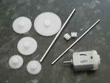 3v 3 volt 13100 Rpm DC Motor SHAFTS COGS GEARS 10MM  WORM GEAR MODEL PROJECTS