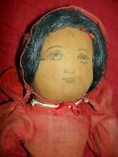 """Very Rare Early 1904, hand painted, """"Babyland Rag"""", Topsy Turvy orig. cloth doll"""