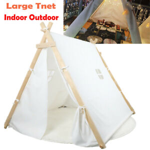 Foldable Large Teepee Tent Adult&Kids Wedding Party Decor In/Outdoor Play House