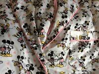 Primark DISNEY Mickey Minni Mouse Satin Silk Pyjamas Pj Set XS Uk 4 EUR 32 New!