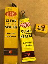 Vintage tube & box DuPont Clear Windshield Sealer 1950s Stops Car Window Leaks!
