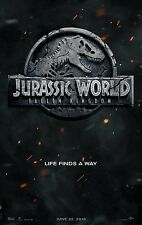 "JURASSIC WORLD FALLEN KINGDOM 2018 Advance Teaser DS 2 Sided 27x40"" Movie Poster"