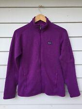 Patagonia Women's Better Sweater Fleece Jacket Full Zip-up Collar Magenta SMALL