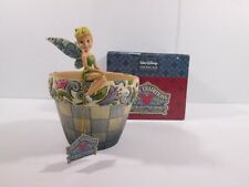 Disney Traditions Jim Shore Tinker Bell Flower Pot 4013258 Enesco