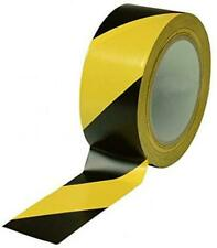 "Black & Yellow Hazard Warning Safety Stripe Tape • 2"" x 36 Yds • Ideal For"