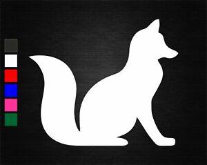 CUTE FOX ANIMAL VINYL DECAL STICKER CAR/VAN/WALL/WINDOW/DOOR/LAPTOP/TABLET/CRAFT