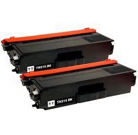2x TN-315 Black Toner Cartridge for Brother TN315 TN315BK MFC-9970CDW HL-4570CDW