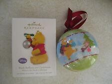 New 2010 Hallmark Ornament Disney Winnie the Pooh Reflects on Christmas + Bonus