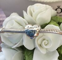 PANDORA STERLING SILVER 'WORDS OF LOVE' CHARM #791111