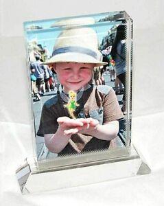 Personalised Rectangular on Base Photo Crystal Portrait