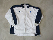 VINTAGE Nike Italy Soccer Jersey Adult Medium White Blue Futbol Coat Mens 90s