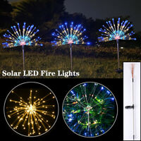 Solar Power 150 90 LED Firework Stake Fairy Lights Garden Colorful Lamp Decor