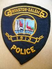 Patches: WINSTON SALEM North Carolina 1913 USA POLICE PATCH (NEW* apx.12x9.8 cm)