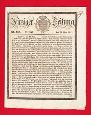 Antike Leipziger Zeitung, Nr. 123, Freitag, 25. Mai 1827