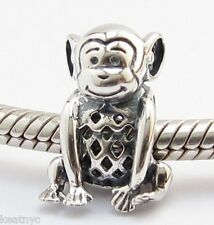 MONKEY CHARM Bead Sterling Silver .925 For European Bracelets 847