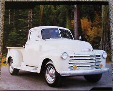 1952 Chevrolet Pickup truck print (white)