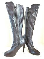 Chinese Laundry Adelle Brown Faux Leather Stiletto Heel Boots Womens Size 7M