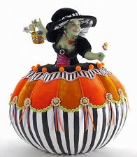 "Katherine's Collection Tricky Treats Pumpkin Witch 17"" 28-628202"