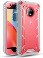 Poetic Revolution 【360 grados Protección 】 funda para Motorola moto e4 Plus Rosa
