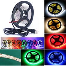 DC 5V USB 3528 60SMD/M Flexible Lamp LED Strip Light Bar TV Back Lighting Kit US