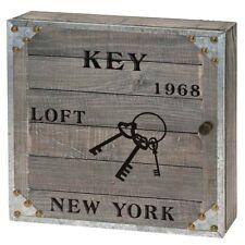 Cassetta portachiavi in legno da parete New York bacheca portachiavi cod 1978