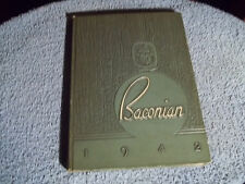 1942 BRIDGETON HIGH SCHOOL YEARBOOK BRIDGETON NJ 'BACONIAN'