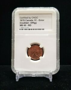 1978 CIRCULATION CANADA 1-CENT ERROR DOUBLED - EFFIGY - MS65 RD
