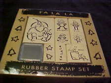All Nght Media 9 Stamp Set Christmas Fa La La Elves Santa Naughty & Nice To From