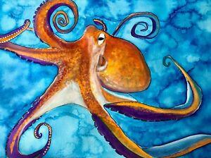 ORIGINAL ART - Octopus watercolour