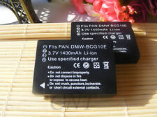2 Batteries for Panasonic DMW-BCG10 DMW-BCG10E DMW-BCG10PP Lumix DMC TZ10 ZR25