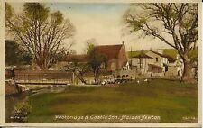 FOOTBRIDGE & CASTLE INN - MAIDEN NEWTON