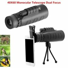 High Power 40X60 Portable HD OPTICS BAK4 Monocular Telescope Day Night Vision UK