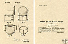 US PATENT Frank Lloyd WRIGHT CHAIR Art Print Ready to Frame!!!!!  Vintage