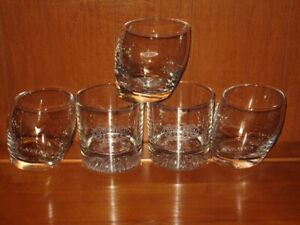 5 Chivas Regal Rocks Whiskey Glasses - 2 Number 12  & 3 Slanted