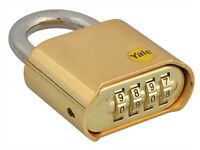 YALE 4 DIGIT COMBINATION PADLOCK 50MM HIGH SECURITY HARDENED STEEL SHACKLE