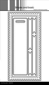 Simple and Basic Slim Card Dies 8 Stanzschablonen Rahmen Banner Anhänger SBD098