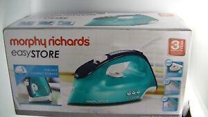 Morphy Richards Breeze 300281 Easy Store 2400W Steam Iron Aqua Blue Brand New