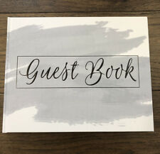 New Blank Wedding Guest Book Dusty Blue, Baby Showers, Polaroid Album Guestbook
