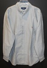 Polo Ralph Lauren Big and Tall Mens Gray Oxford Button-Front Shirt NWT Size 3XB