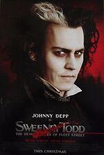 SWEENEY TODD - ADVANCE - Movie Poster - Flyer - 13.5x20 - JOHNNY DEPP