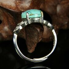 Chinese Exquisite Handmade silver mosaic turquoise Ring