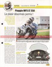 PIAGGIO MP3 LT 250 Scooter 2008 Joe Bar Team Fiche Moto #006599
