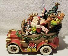 "Fitz and Floyd Santa Mobile Music Box Plays ""We Wish You A Merry Christmas"" Euc!"