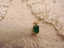 EMERALD ONE CARAT PENDANT ON 14 K GOLD CHAIN