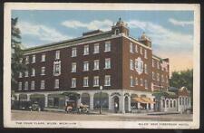 Postcard NILES Michigan/MI  4 Four Flags Tourist Hotel & Storefronts 1910's