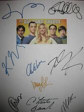The Big Bang Theory Signed Script X9 Kaley Cuoco Johnny Galecki Jim Parsons RPNT
