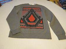 Men's Volcom stone surf skate brand long sleeve sweat shirt XL grey heather NWT